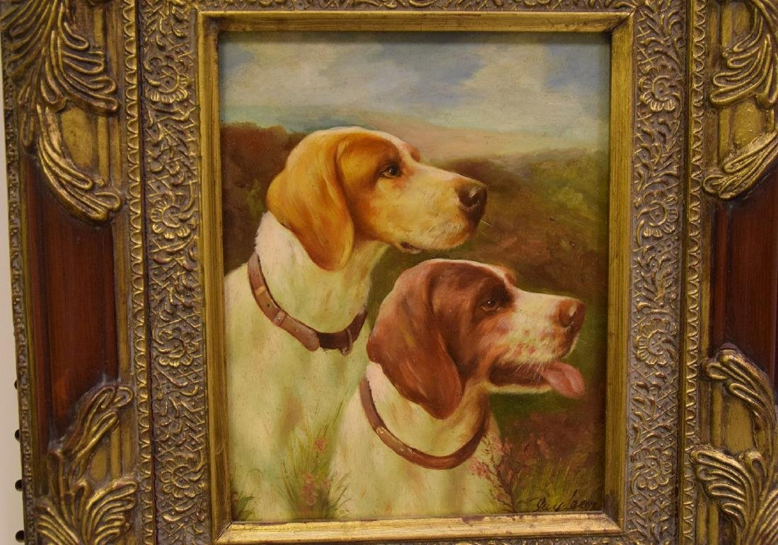 2 Dog Paintings, 20th century Decorative, one signed - 2