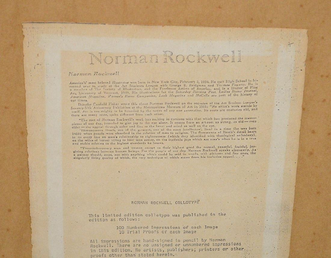Norman Rockwell (AMERICAN, 1894-1978) Color Lithograph, - 8