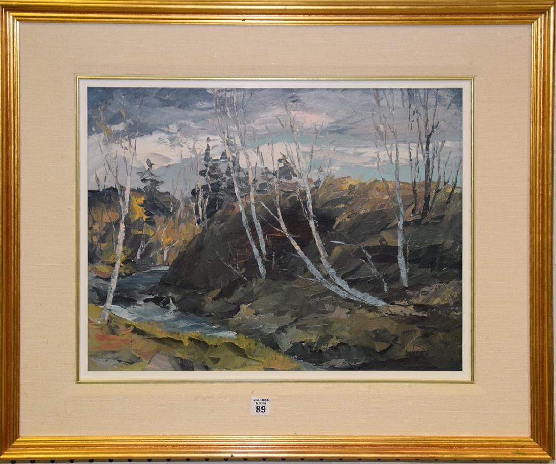 Leonard Basque (Canada, born 1927) oil on canvas, birch