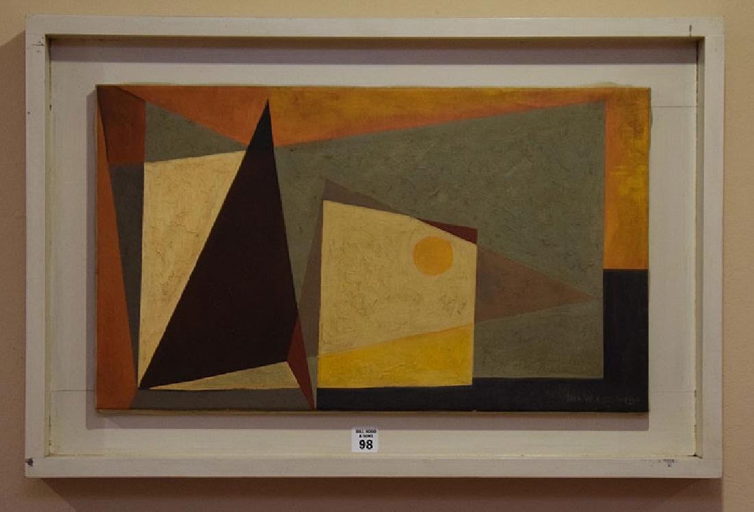 Werner Drewes  (American 1899 - 1985)  oil on canvas,