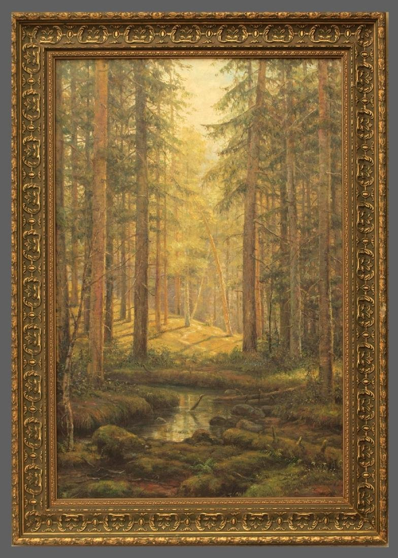 Attributed to Ivan Shishkin (RUSSIAN, 1832-1898) oil on