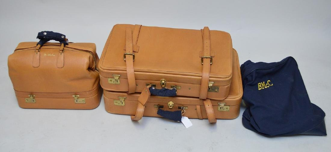 Luggage, 3 pieces bridle leather, Swaine Adeney-Brigg,