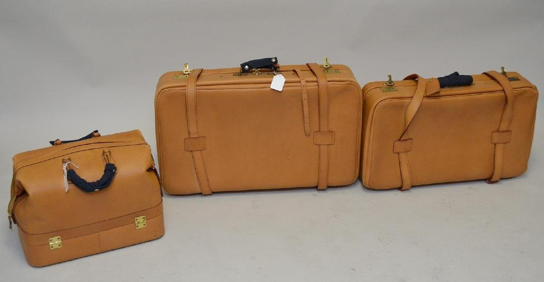 Luggage, 3 pieces bridle leather, Swaine Adeney-Brigg, - 7