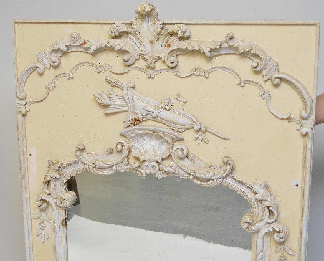 "Decorative French style wall mirror, 62""h x 38""w - 3"