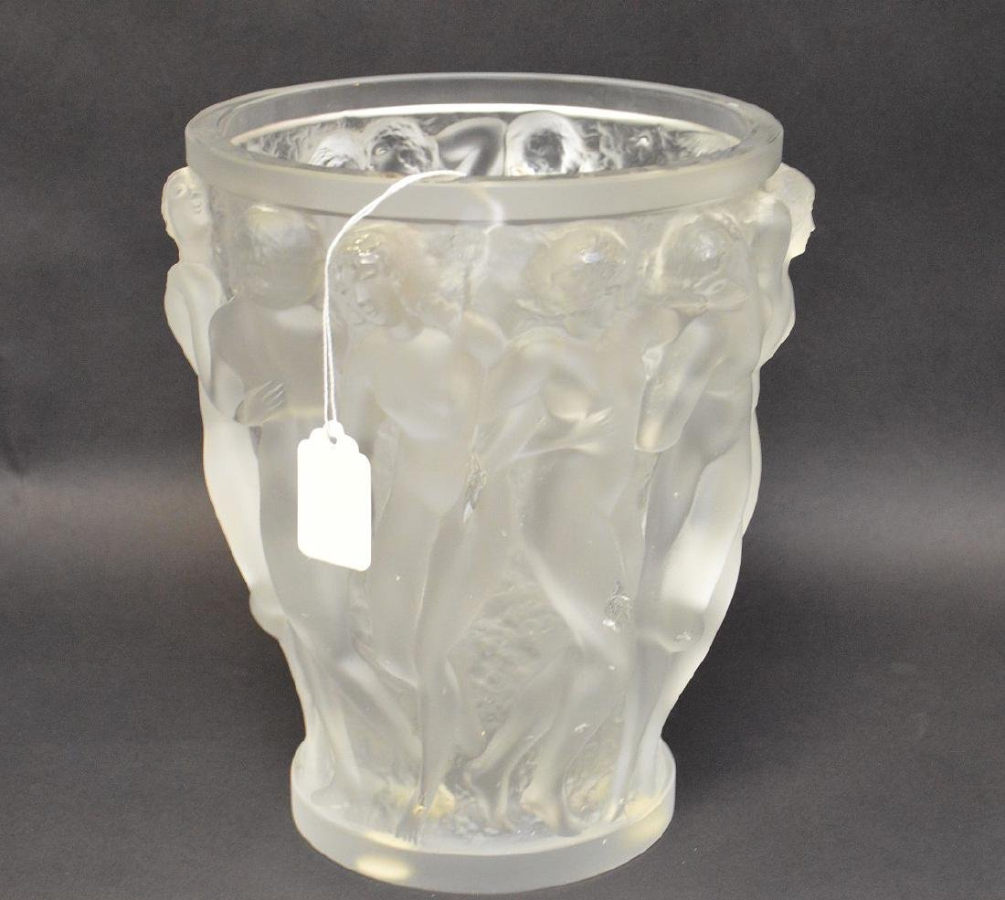 Lalique Crystal Vase with figural nude women.