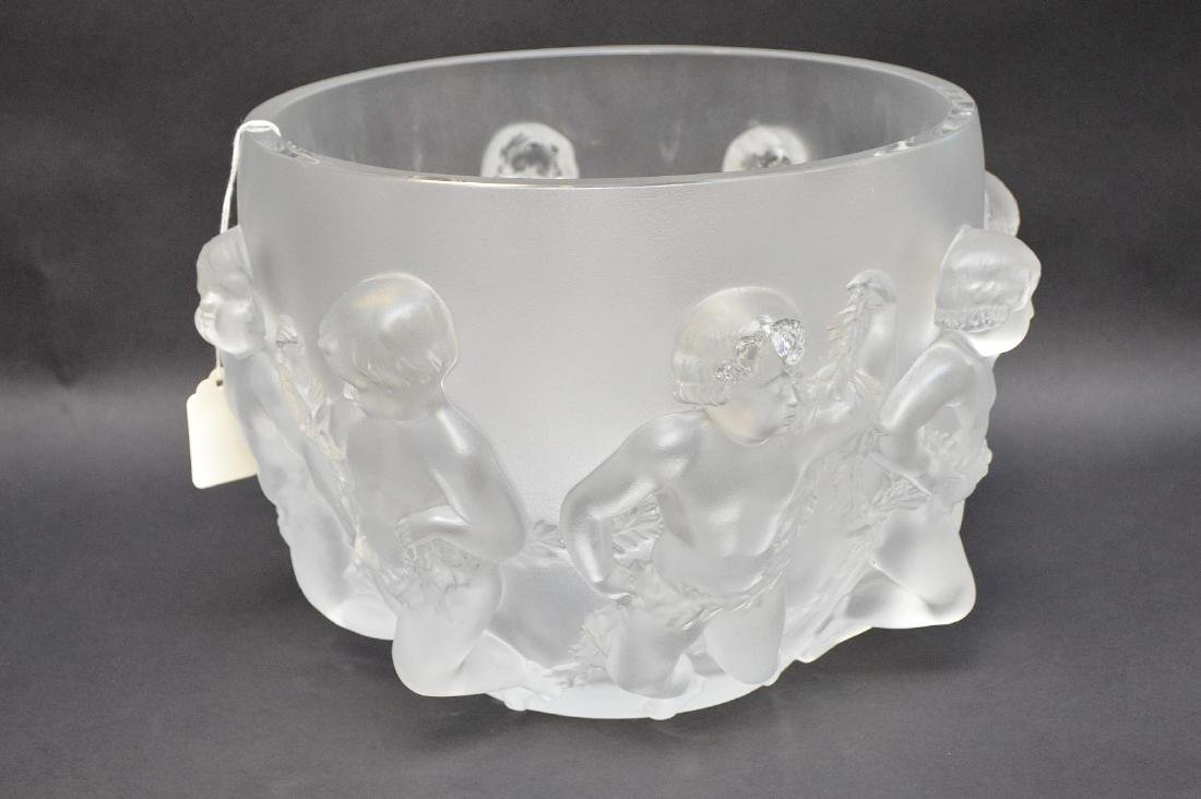 Lalique Crystal Luxembourg centerpiece bowl.