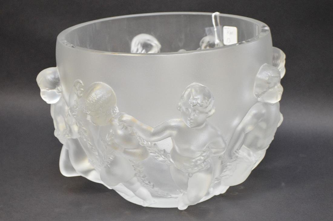 Lalique Crystal Luxembourg centerpiece bowl. - 2