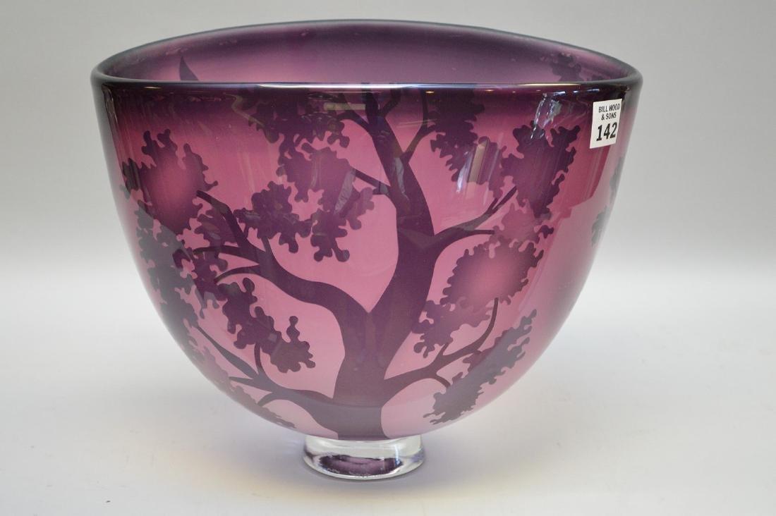 "David Josephson art glass bowl, 10""h (good condition)"