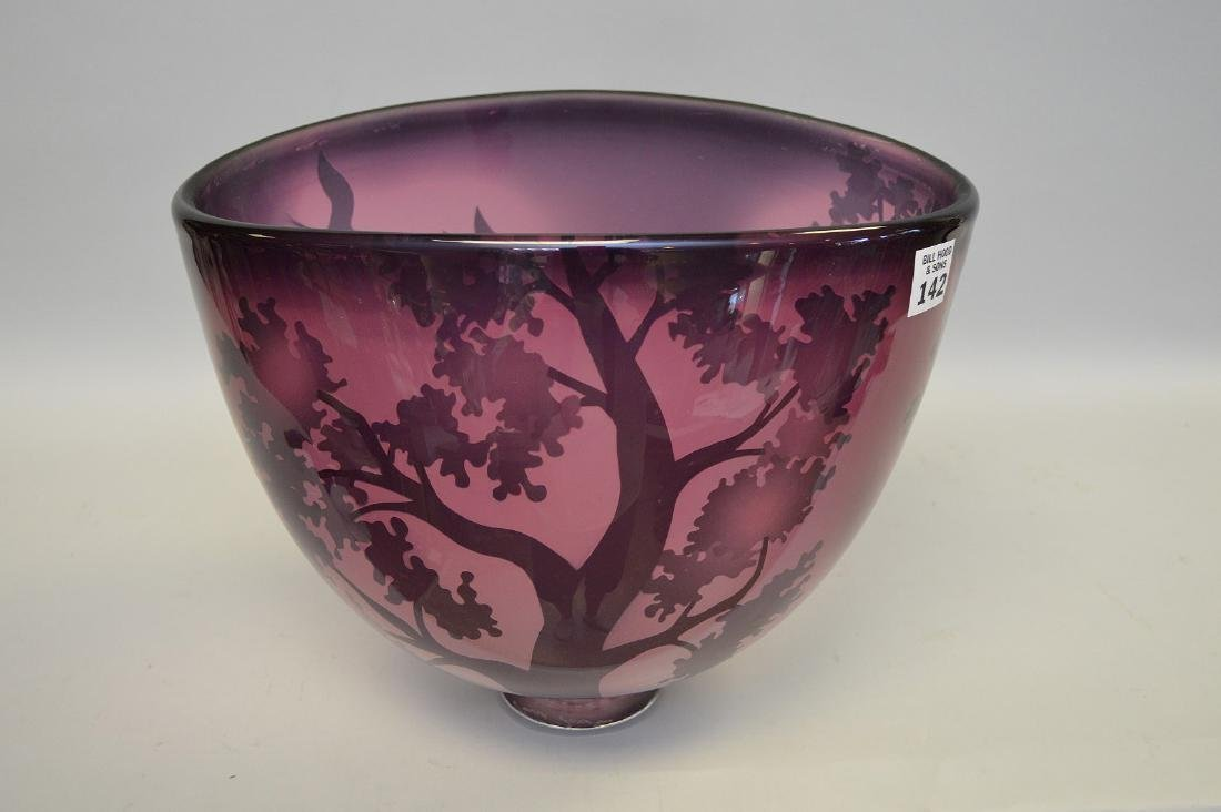 "David Josephson art glass bowl, 10""h (good condition) - 2"