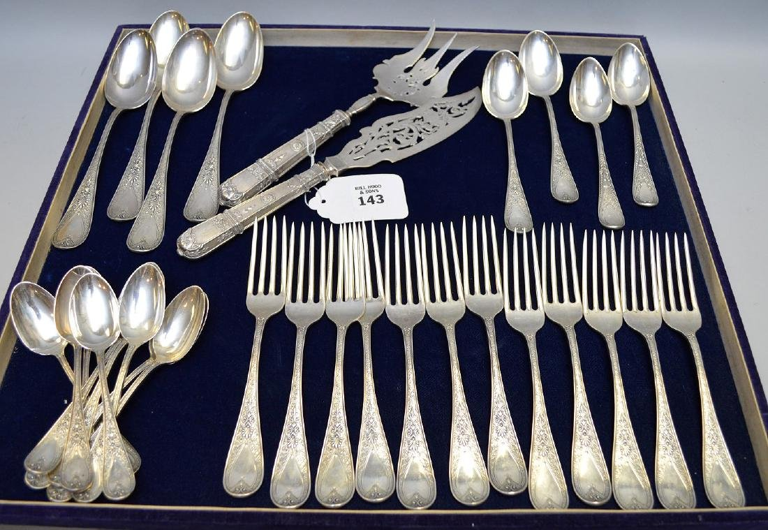 32 pcs. Bachelders & Co. sterling flatware, 48 ozt AND