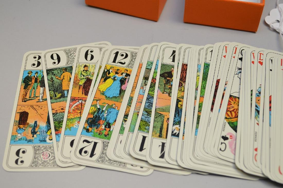 Hermes playing/tarot cards with silver edges - 6
