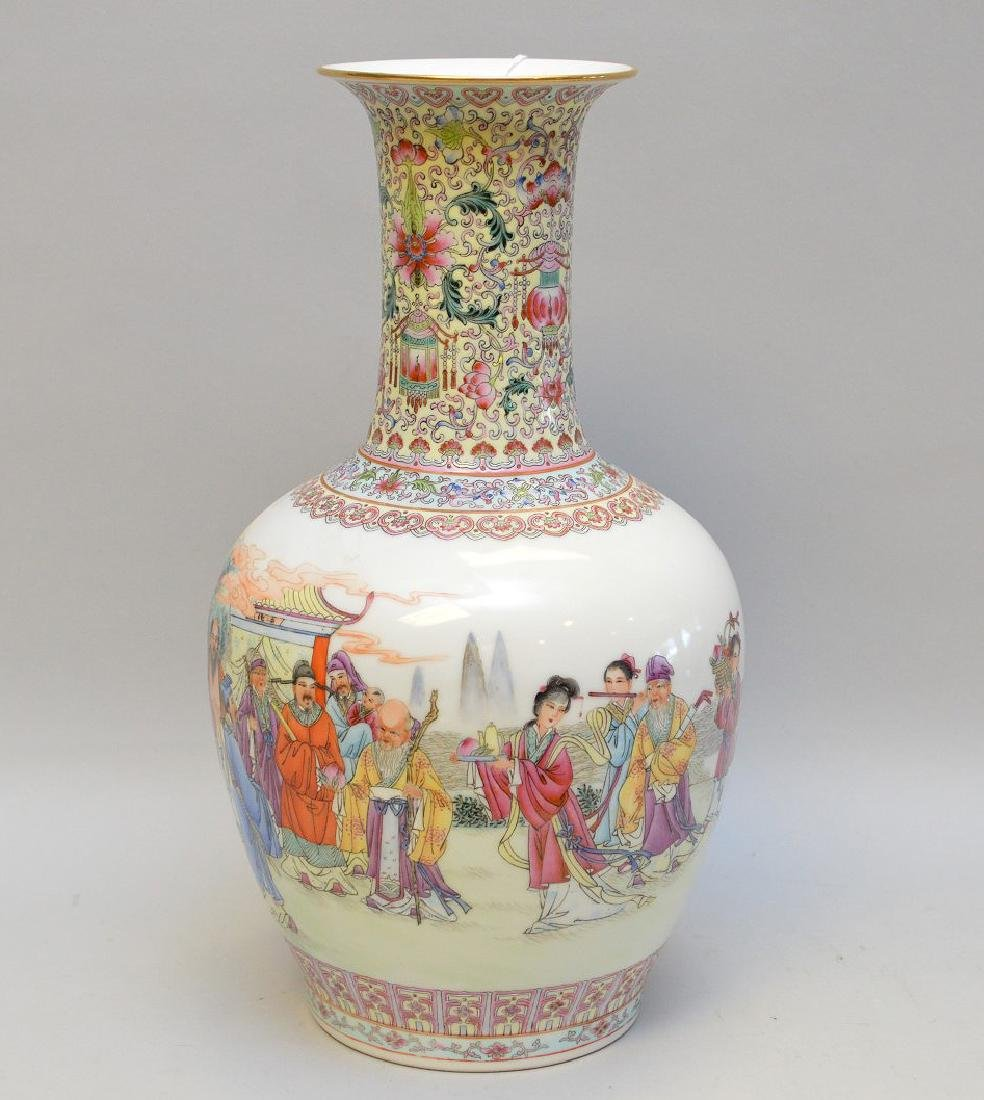 "Chinese porcelain vase, 13""h (good condition)"