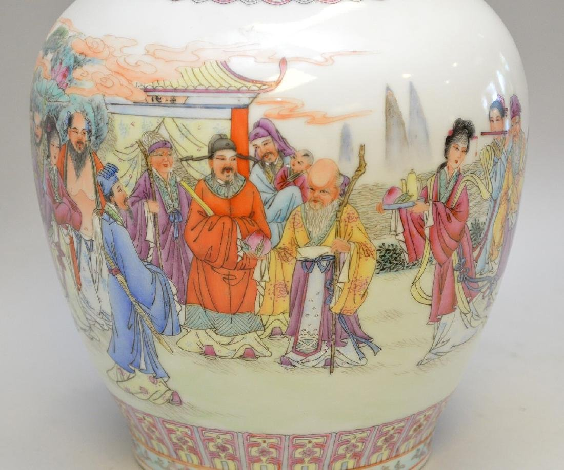 """Chinese porcelain vase, 13""""h (good condition) - 2"""