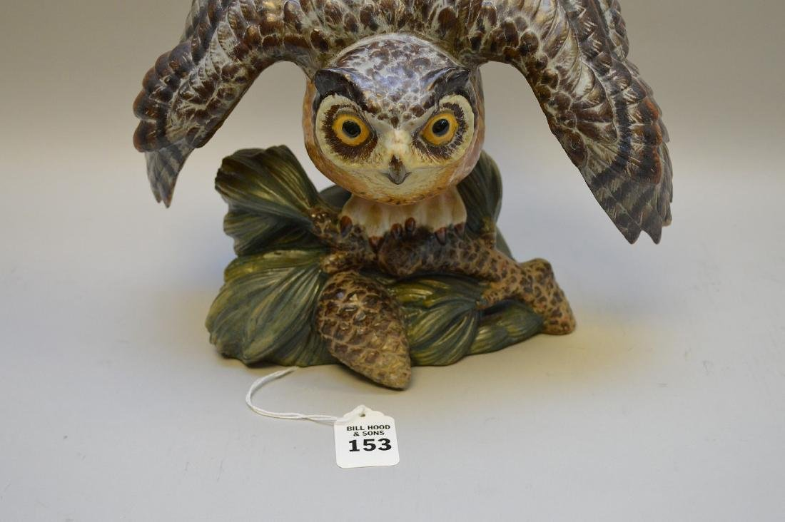 "Lladro porcelain owl, 8 3/4""h  x 10""w (good condition)"