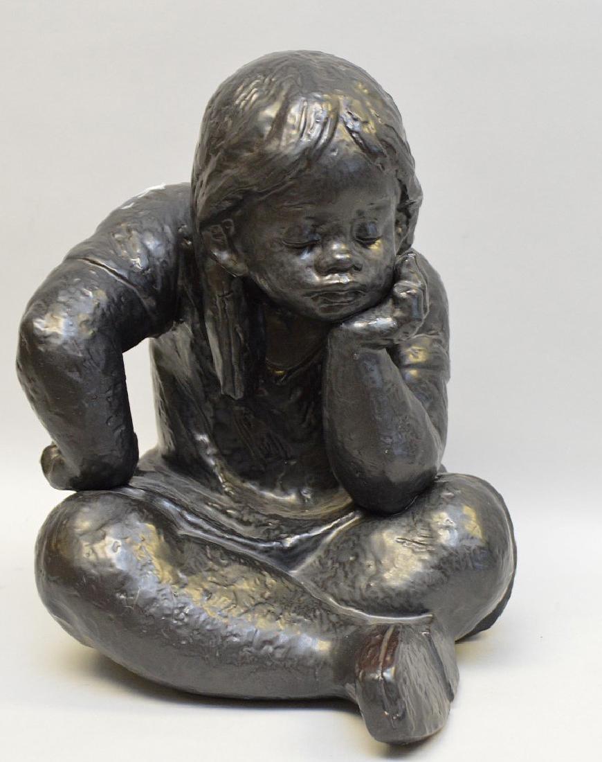 "Lladro porcelain girl, designed by Antonio Ramos, 12""h"