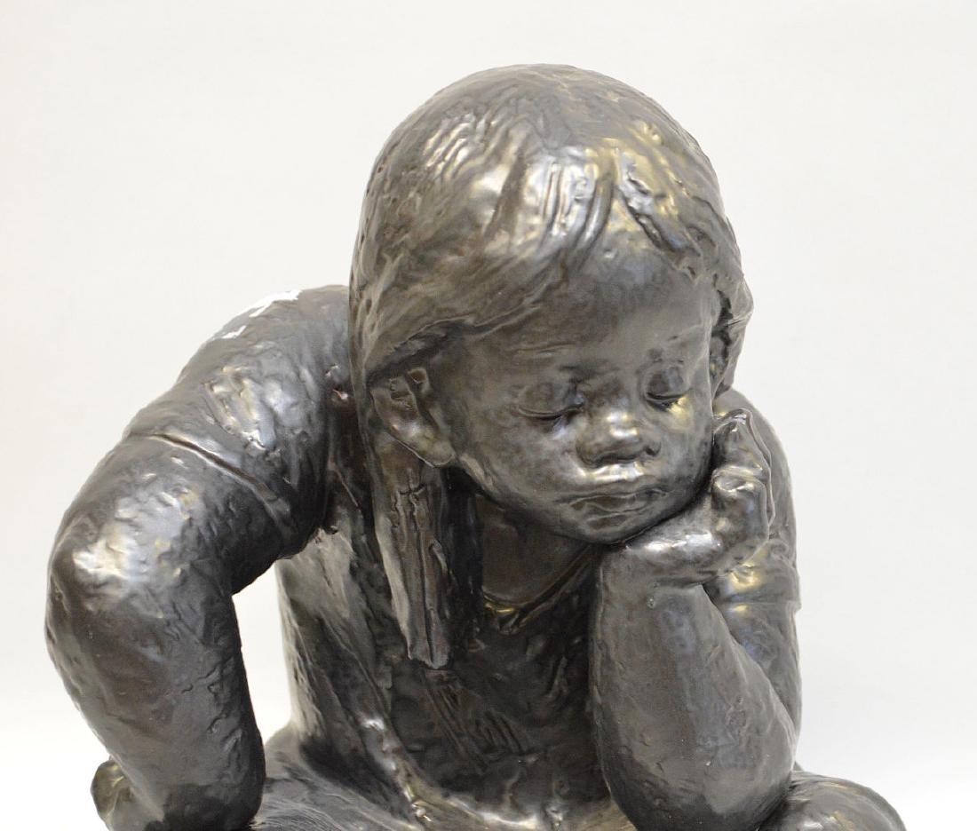 "Lladro porcelain girl, designed by Antonio Ramos, 12""h - 2"