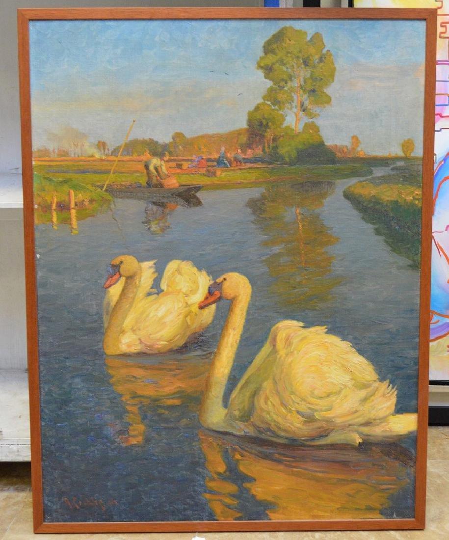 Richard-Hermann Eschke  (German 1859 - 1944) oil on