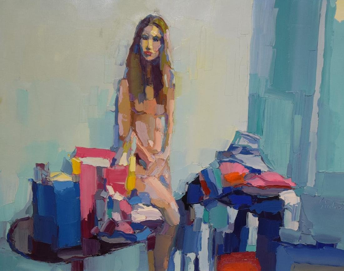 Nicola Simbari (ITALIAN, 1927-2012) oil on canvas, - 2