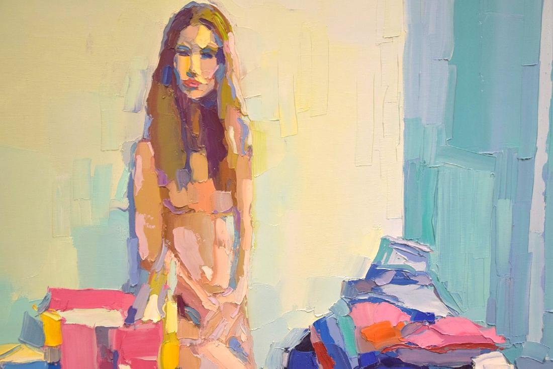 Nicola Simbari (ITALIAN, 1927-2012) oil on canvas, - 4