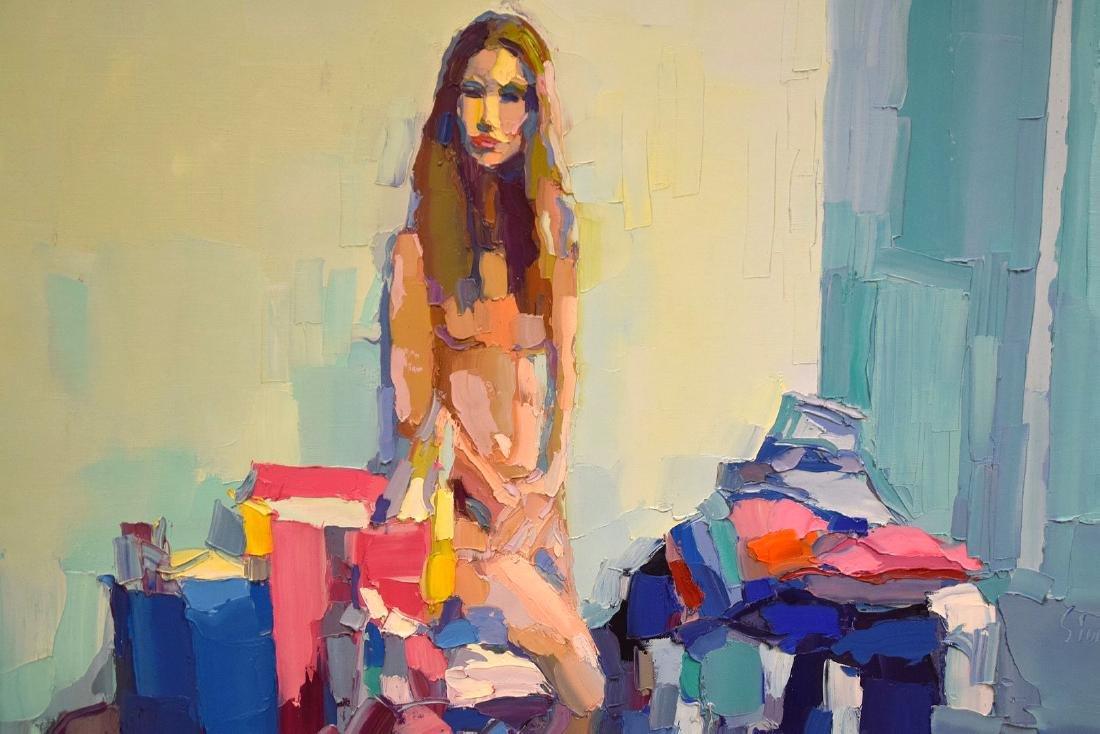 Nicola Simbari (ITALIAN, 1927-2012) oil on canvas, - 5