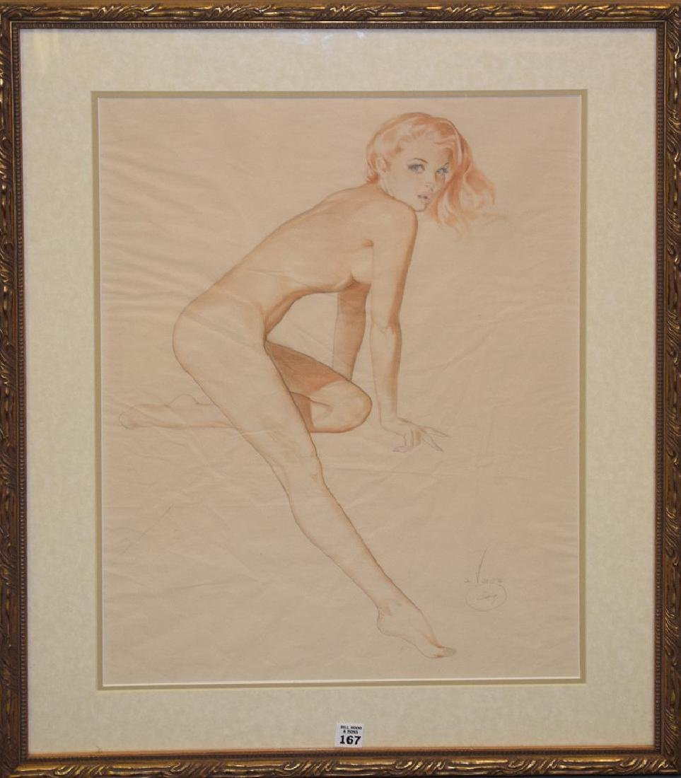 Alberto Vargas  (1896 - 1982) Drawing on paper, Esquire