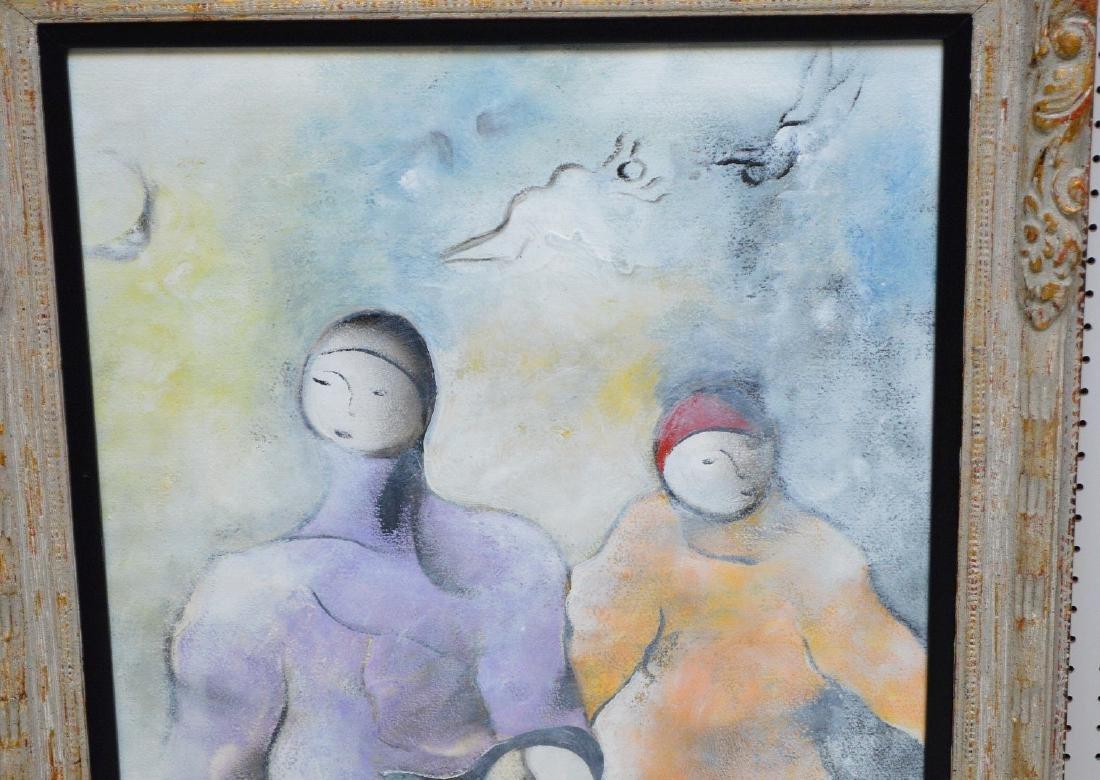 David Schluss  (Israel born 1943) Watercolor/Gouache on - 2