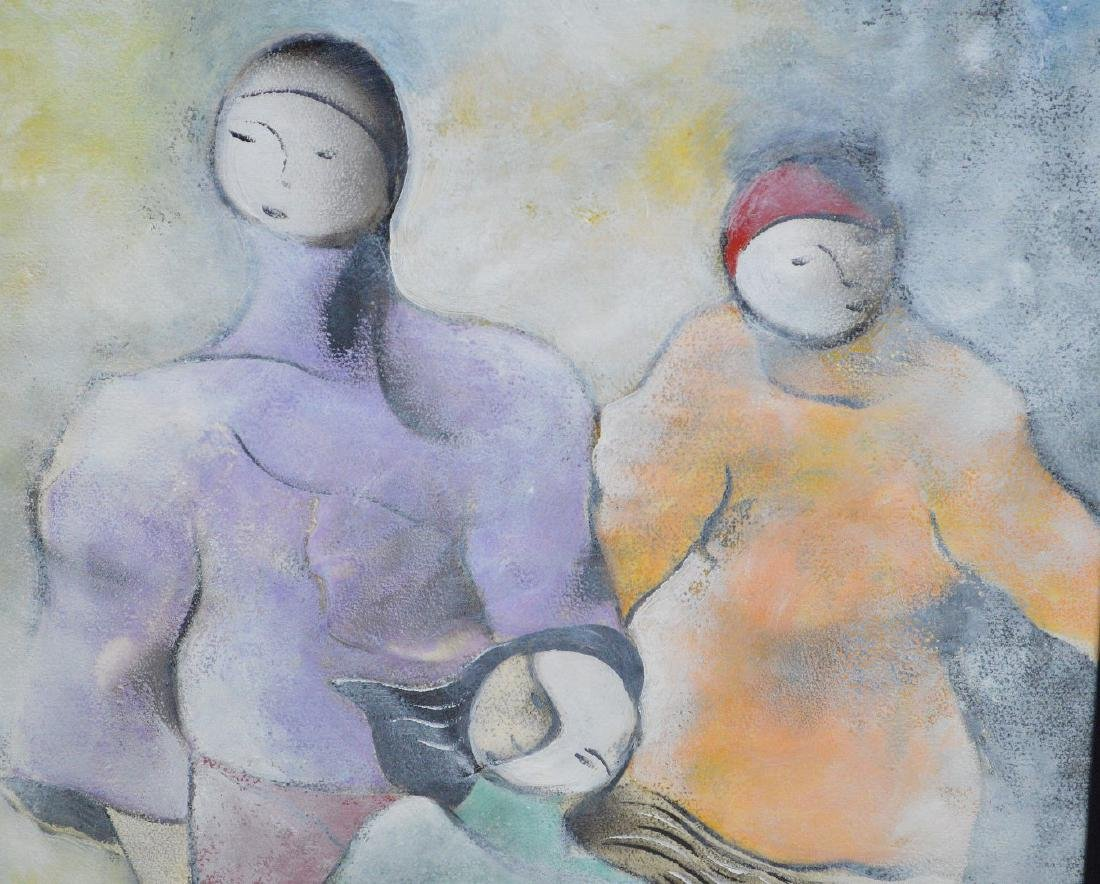 David Schluss  (Israel born 1943) Watercolor/Gouache on - 3