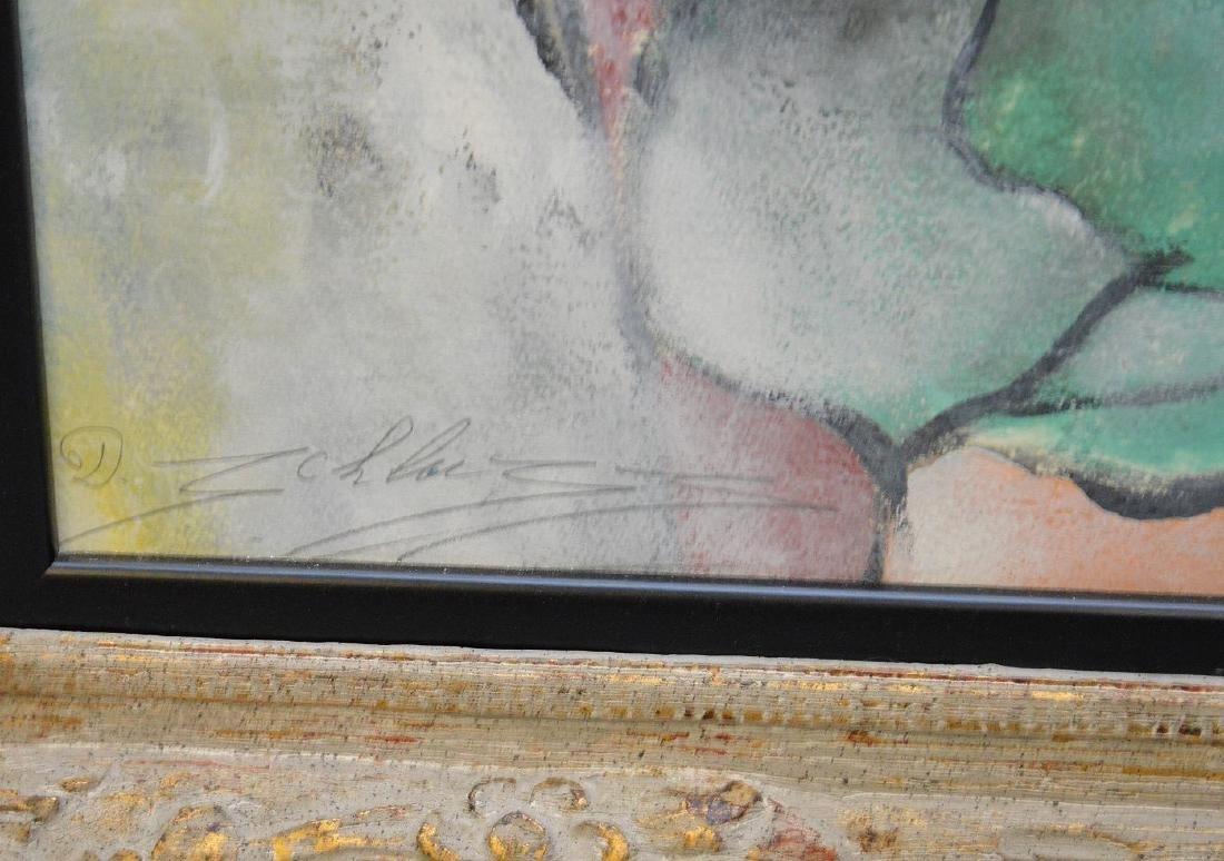 David Schluss  (Israel born 1943) Watercolor/Gouache on - 4