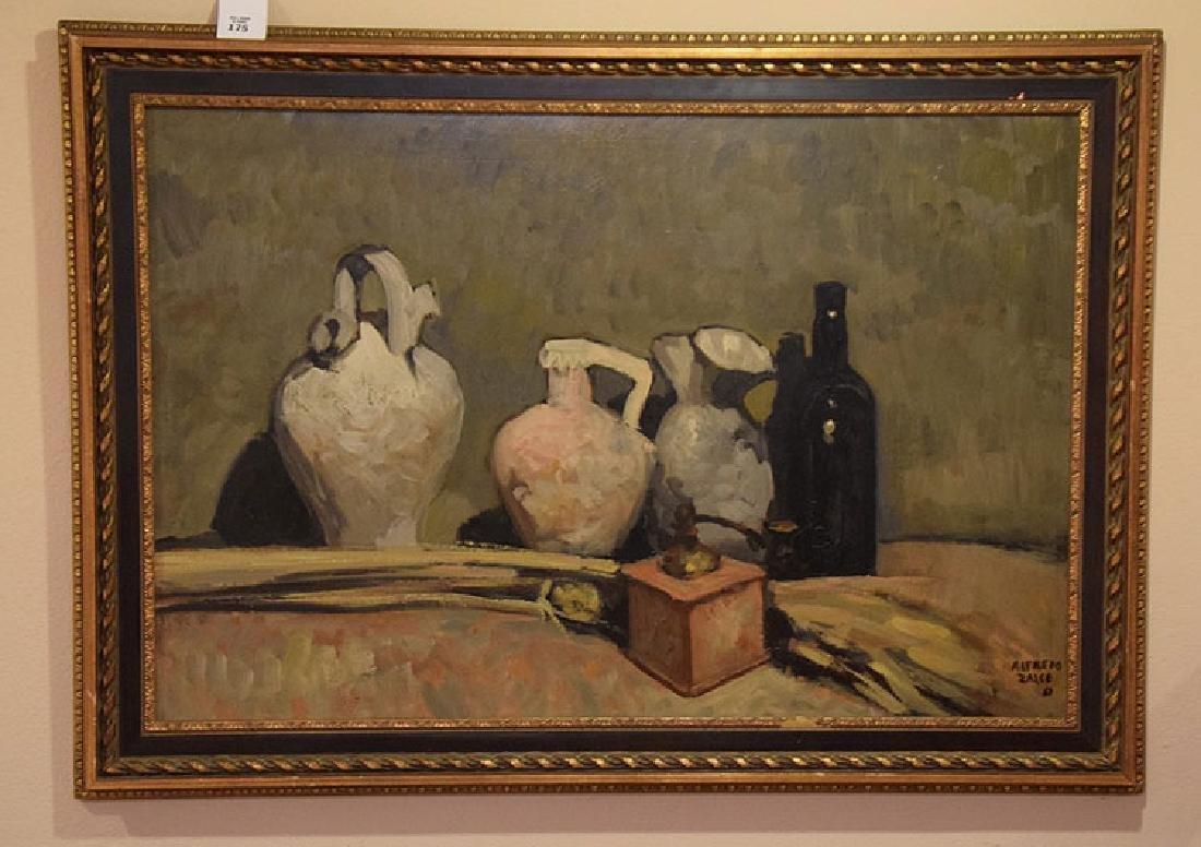 Alfredo Zalce (MEXICAN, 1908-2003) oil on board, still