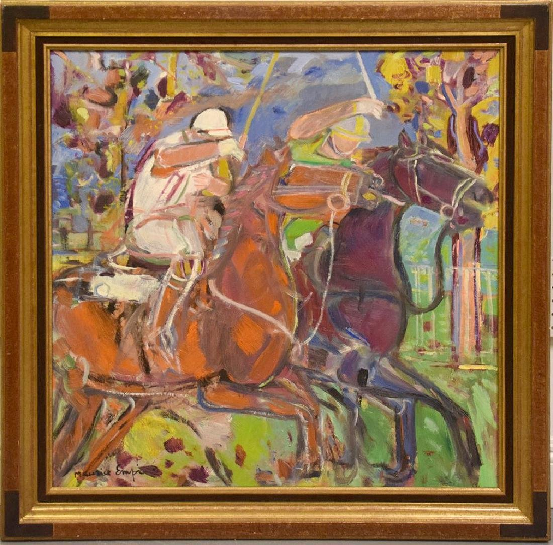 Maurice Empi (FRENCH, 1932) oil on canvas, Polo Match