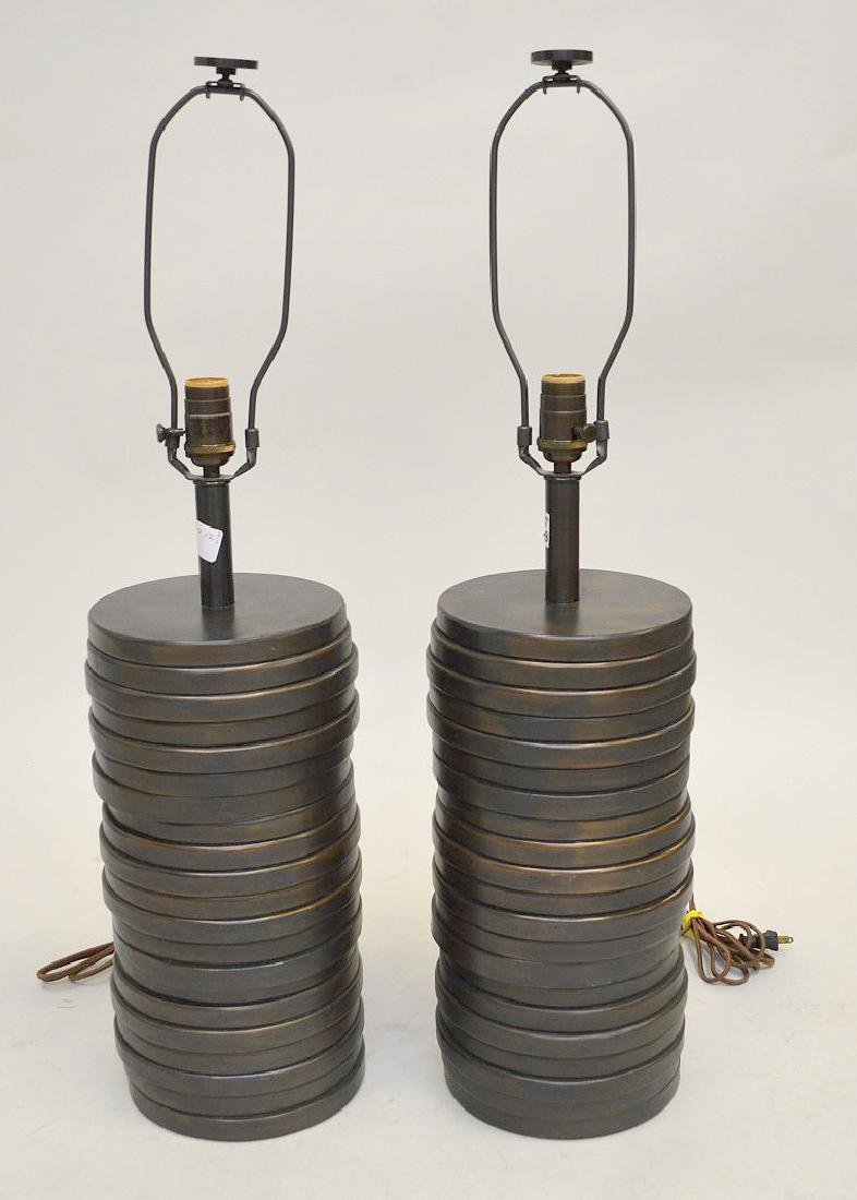 Fine pair of Clodagh Sculptural lamps (Irish 20th c.