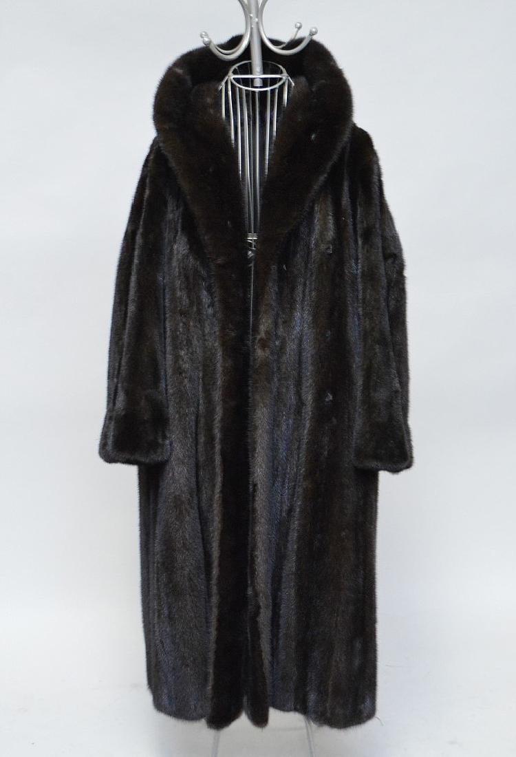 "Ladies full length mink coat (52"" L)  arm length (17""h)"