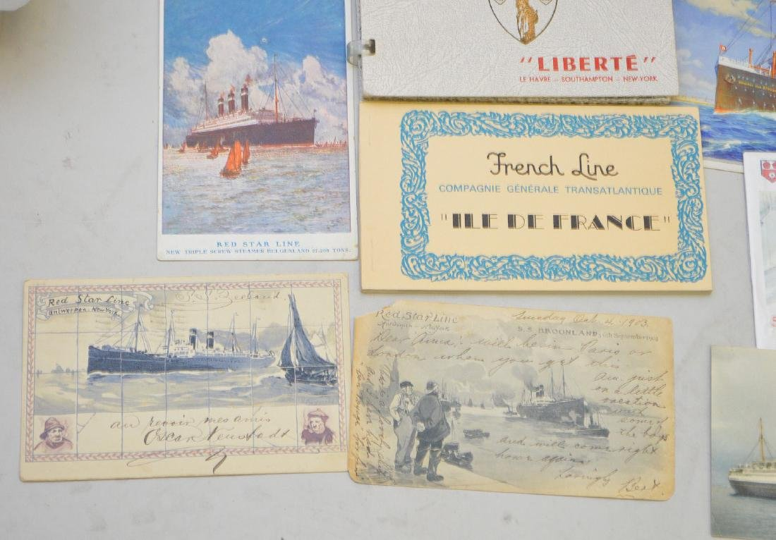 Collection of vintage postcards, ocean liners - 3