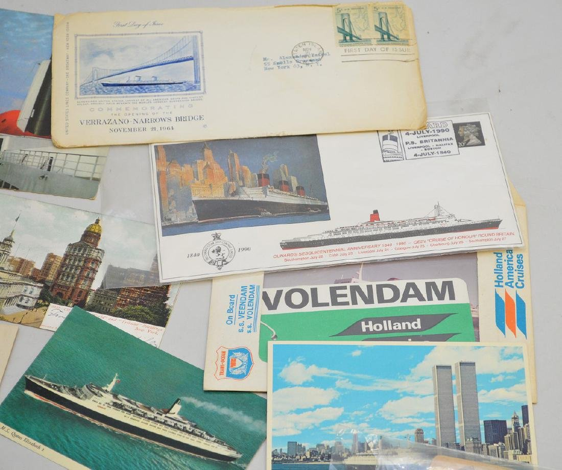 Collection of vintage postcards, ocean liners - 4