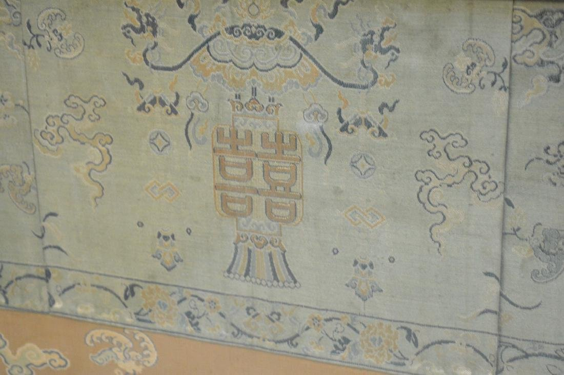 """Framed Embroidered Chinese dragon panel, 36""""h x 38""""w - 3"""