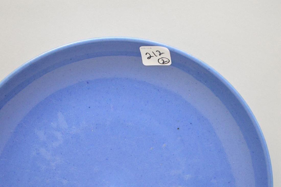 "2 Chinese blue plates, 11"" dia & 11 1/2"" dia - 3"