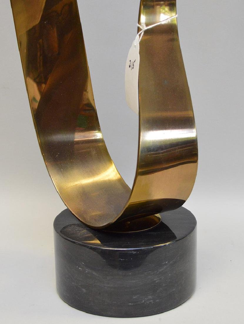 Curtis Jere Modernist Kinetic Brass Sculpture on marble - 2