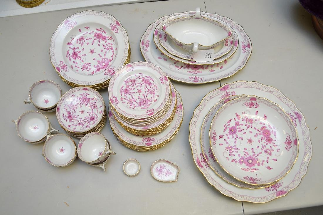 "Meissen porcelain dinner service, ""Pink Indian"", incl;"