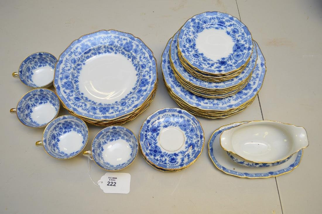 "German porcelain dinner service, Madelaine"", incl; 8"