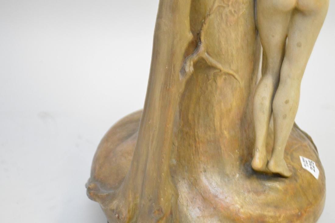 Art Nouveau figural Goldschneider vase, signed Thayer, - 10