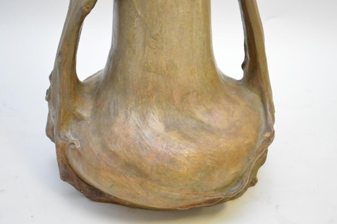 Art Nouveau figural Goldschneider vase, signed Thayer, - 7
