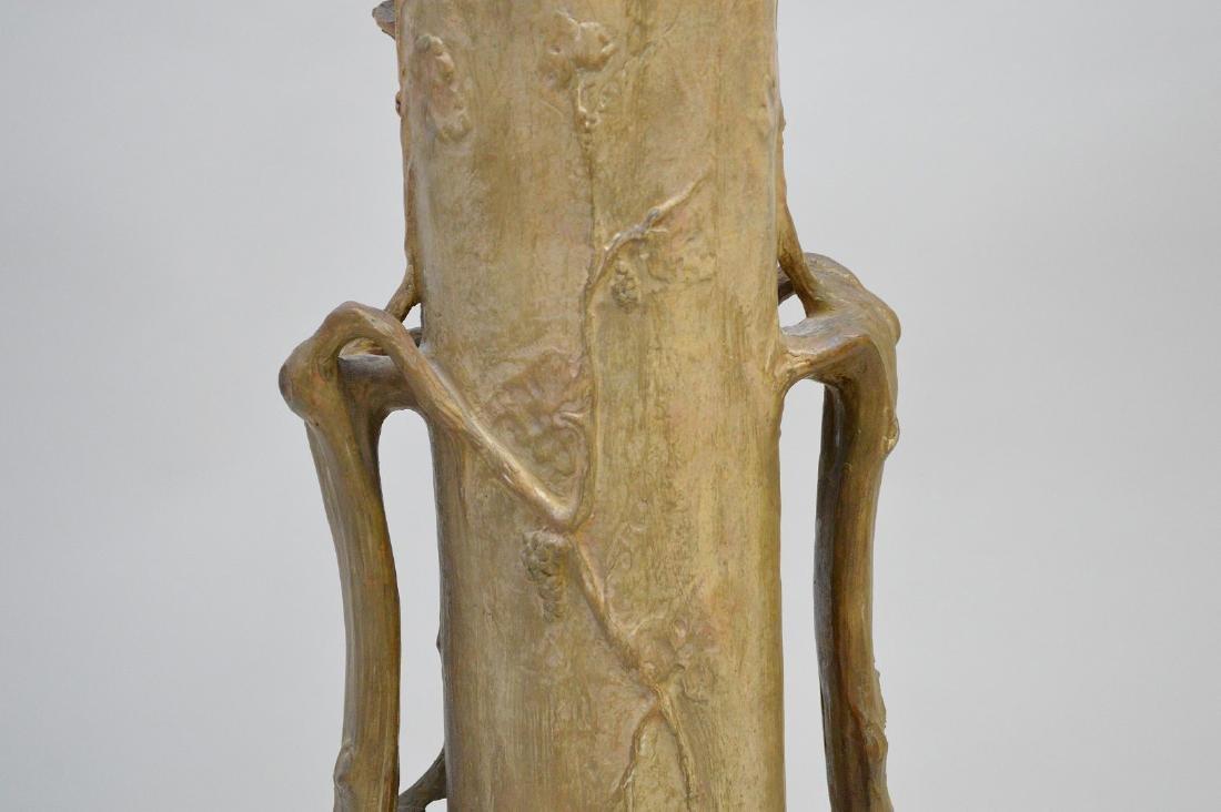 Art Nouveau figural Goldschneider vase, signed Thayer, - 8