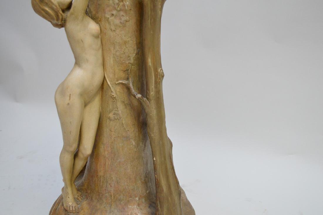 Art Nouveau figural Goldschneider vase, signed Thayer, - 9