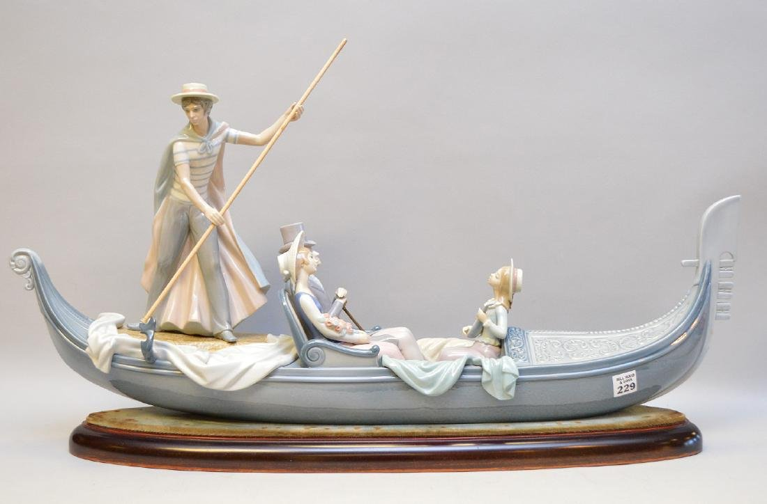 "Lladro ""In The Gondola"", 14""h x 31""w"