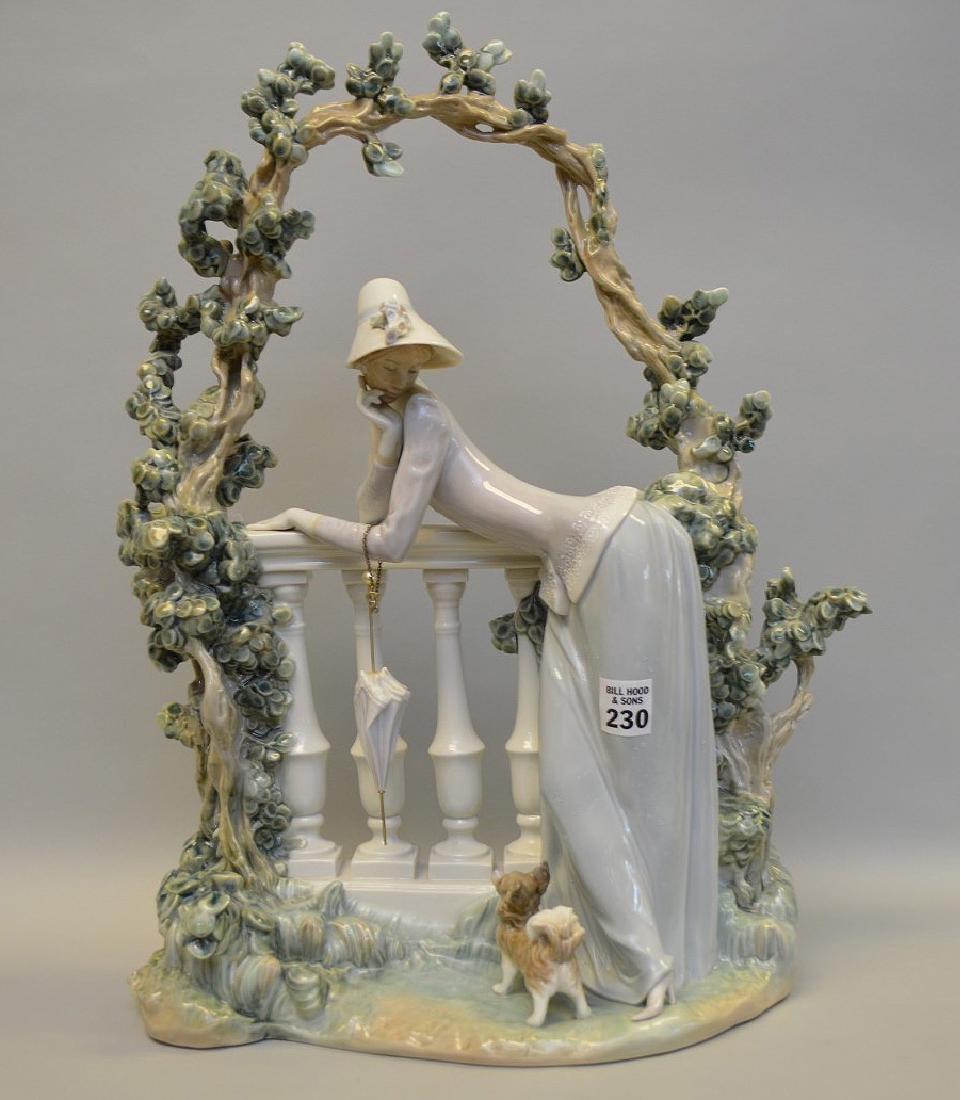 "Lladro girl under trellis, 19 1/2""h x 15""w x 7""d (old"