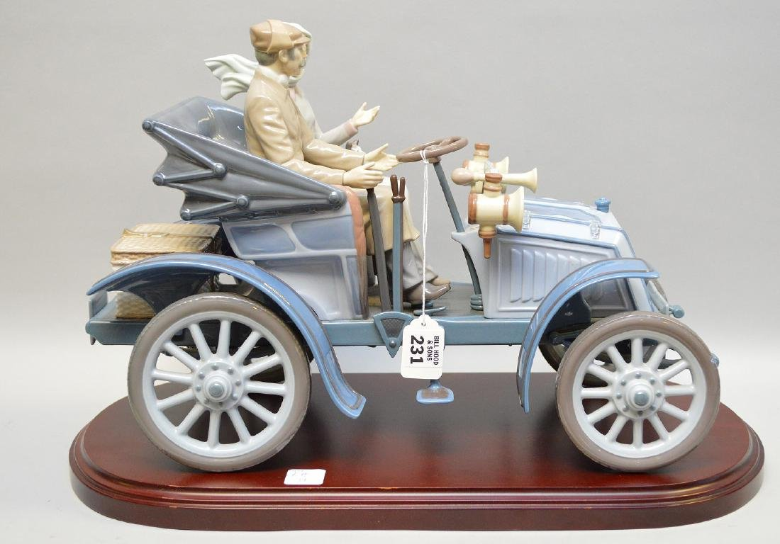 "Lladro ""Motoring In Style"", 12""h x 17""w"