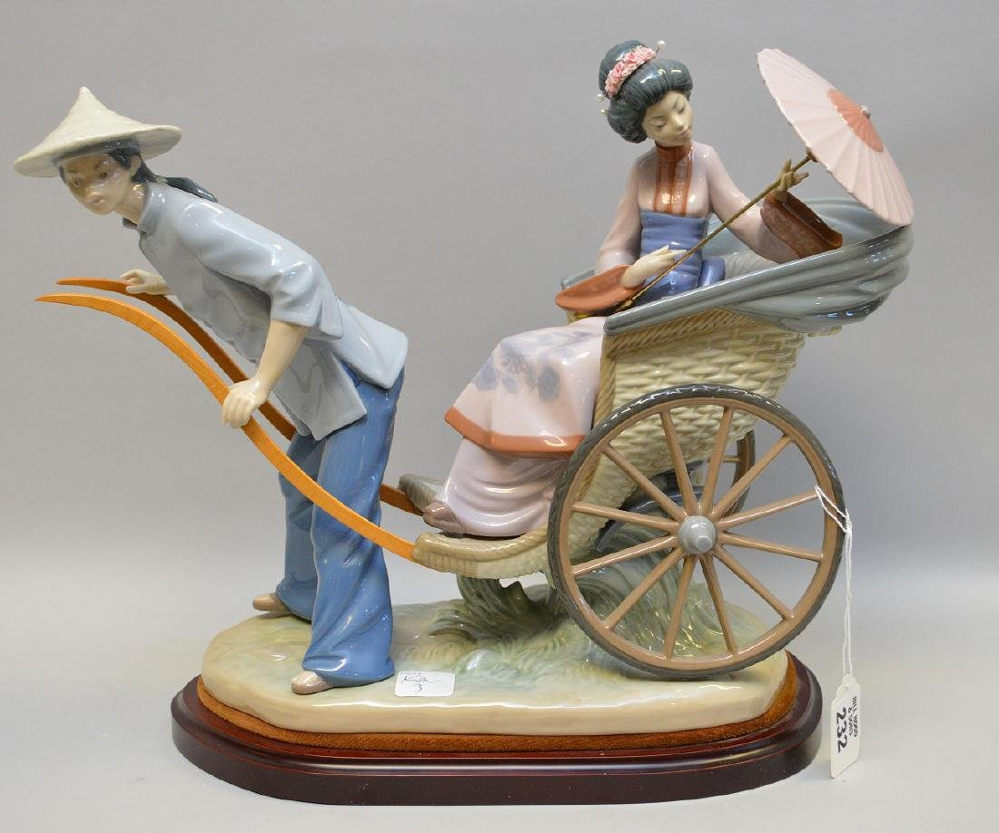 "Lladro ""Rickshaw Ride"", 12""h x 15"" (umbrella not"