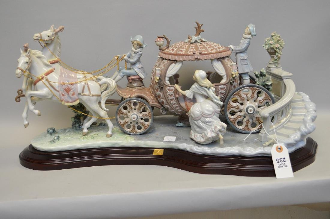 "Lladro figural grouping, Cinderella's Chariot, 12""h x"