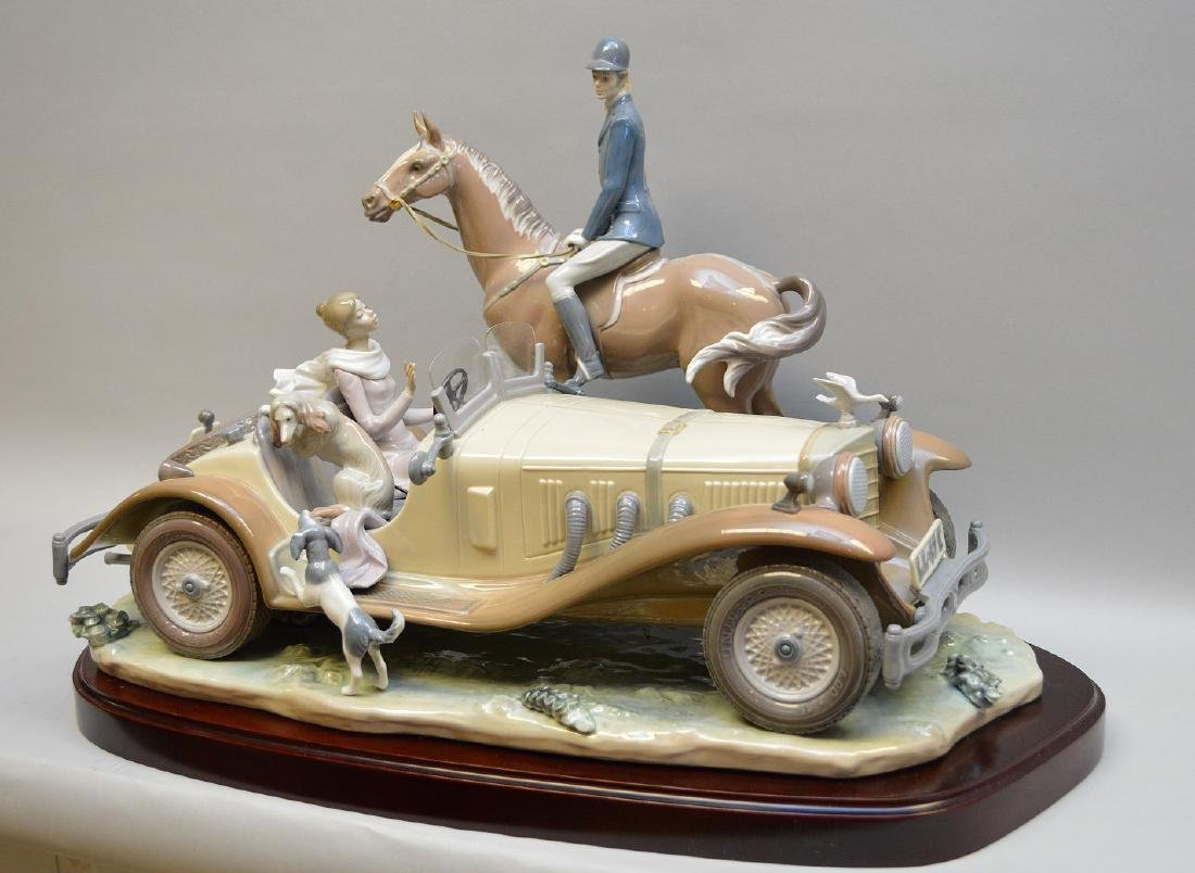 "Lladro Roadster with horse & rider grouping, 13 1/2""h x"