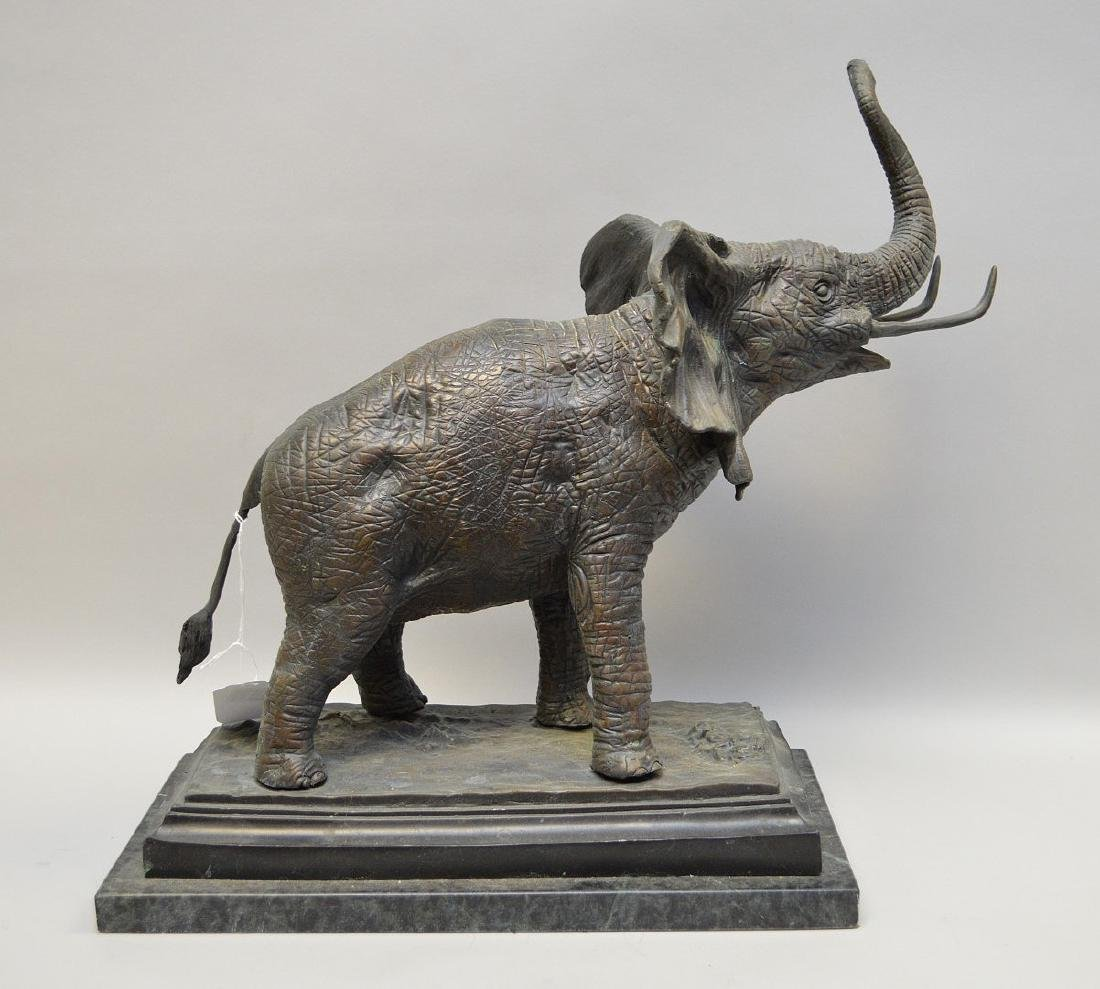 """Bronze standing elephant, after Barye, 17""""h x 15""""w - 5"""